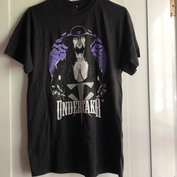 WWE Authentic Wear Undertaker The Phenom Never Dies T-Shirt Black//Purple 2XL